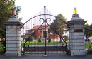 wrought iron gates to a Scarsdale mansion
